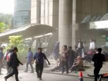 इंडोनेशियात स्टॉक एक्सचेंज इमारतीचा पहिला मजला कोसळल्यानं 75 लोक जखमी