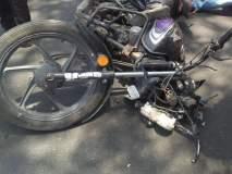 मोटारसायकल अपघातात युवक ठार; दोन गंभीर जखमी