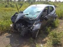 राष्ट्रीय महामार्गावर दुहेरी अपघातात १० जण गंभीर