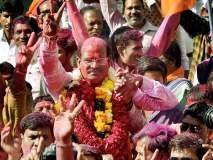 गुजरात निवडणुकीत अहमदाबाद जिंकल्यानंतर भाजपाचा जल्लोष