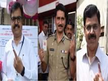 महापौर, जिल्हाधिकारी, पोलीस, मनपा आयुक्तांनी बजावला मतदानाचा हक्क