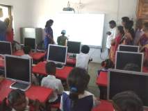 नवघर जिल्हापरिषदेच्या शाळेत आता संगणकाचे धडे