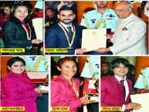 राष्ट्रीय क्रीडा पुरस्कार : राष्ट्रपतींच्या हस्ते खेळाडू, प्रशिक्षकांचा गौरव