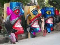 राजधानी दिल्लीत शिल्पकारांनी साकारले रावणारे पुतळे!