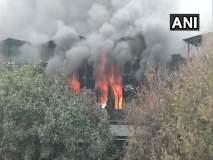 Video : दिल्लीतील पेपर कार्ड फॅक्टरीला भीषण आग