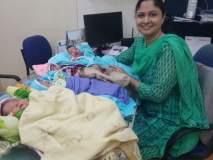 बुलडाणा : बालिकादिनी जन्म घेणा-या चार 'सावित्रीं'चे रुग्णालय प्रशासनाने केले स्वागत!