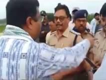 Video : भाजपा मंत्र्याची निवडणूक अधिकाऱ्याशी हुज्जत, हेलिकॉप्टर तपासूच दिलं नाही
