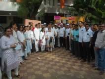 'सेव्ह मेरिट - सेव्ह नेशन'चे पालकमंत्र्यांच्या घरासमोर 'थाळी बजाओ' आंदोलन