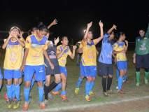 कोल्हापुरात वूमेन्स लीग फुटबॉल स्पर्धेत आक्रमक व वेगवान खेळ