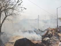 अकोल्यातील माता नगरमध्ये भीषण आग; ६० झोपड्या जळून खाक