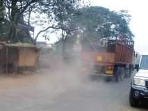 धुळीत गुदमरला शेणवे - किन्हवली रस्ता