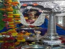 कार्ला गडावरील कुलस्वामिनी एकविरा देवीच्या मंदिरात घटस्थापना