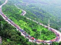 एक्सप्रेस वेवर ऑईल सांडले; मुंबईकडे जाणारी वाहतूक विस्कळीत