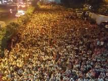 शेतकऱ्यांचा लाँग मार्च ठाण्यात दाखल