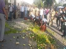 मंत्रालयाच्या प्रवेशद्वारावर शेतकऱ्यांनी फेकल्या भाज्या, पोलिसांचा जाच झाला असह्य