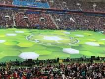 फिफा विश्वचषक फुटबॉल स्पर्धेला दिमाखदार सुरुवात