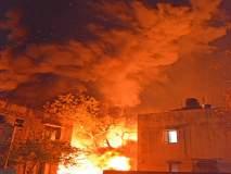 सारसनगर येथील पाईपच्या गोडावूनला आग