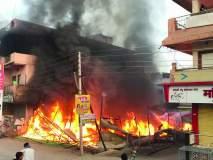 चिखलीत आग लागून महासेलचे दुकान भस्मसात; लाखो रूपयांचे साहित्य आगीच्या भक्ष्यस्थानी