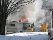 नागपुरातील टीबी वॉर्ड परिसरात आग