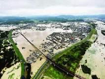 जपानमध्ये हाहाकार , सलग तीन दिवस मुसळधार पाऊस