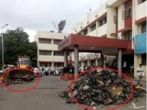 कचरा कोंडीस सरकारच जबाबदार; शिवसेनेने जिल्हाधिकारी कार्यालयात टाकला कचरा