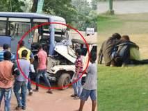 नजर हटी दुर्घटना घटी; गार्डनमध्ये जोडप्यांना पाहताना बसवरील नियंत्रण सुटलं, 10 जखमी