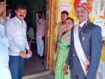 बोहल्यावर चढण्यापूर्वी नवरदेवाने केले मतदान