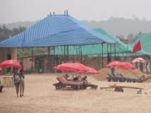 गोव्यातील पर्यटन हंगामाला सुरुवात, किना-यांवर शॉक्सची केली उभारणी