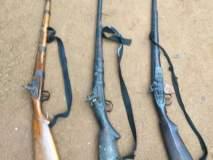 आगसखांड येथील घटना : संरक्षणासाठीची बंदूकच चोरीला