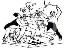 बॅनरवरून शिवसैनिकांचा मेळाव्यावर बहिष्कार, राडा झाल्याने महायुतीचा मेळावा अखेर रद्द