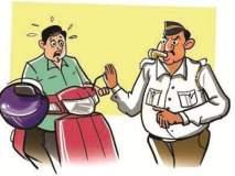 अबब..! हेल्मेट न घालणाऱ्या दुचाकीस्वाराला १८ हजार ७०० रुपये दंड