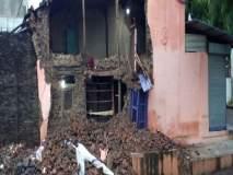 कोल्हापूर : शनिवार पेठेत घराची भिंत पडली, सुदैवाने जीवित हानी नाही : ६० ते ७० हजारांचे नुकसान