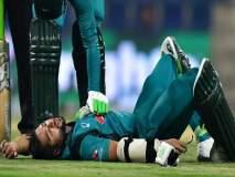 पाकिस्तानच्या सलामीवीराच्या हॅल्मेटला चेंडू कसा लागला, पाहा हा व्हिडीओ...