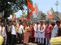 Karnataka Election Results 2018 कोल्हापुरात साखर-पेढे व फुगडीचा फेर