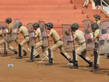 कोल्हापुरात पोलिस दलाची वार्षिक तपासणी...