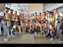 आशिया चषक विजेत्या भारतीय हॉकी संघाचे मायदेशात जल्लोषात स्वागत