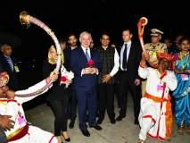 इस्त्रायलचे पंतप्रधान बेंजामिन नेतान्याहू यांचे मुंबईत मऱ्हाठमोळं स्वागत