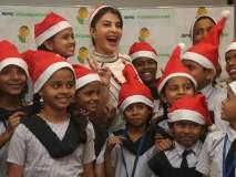 जॅकलीन फर्नांडिसने लहान मुलांसोबत केला ख्रिसमस साजरा