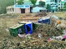 नागपुरात कचराकुंड्या कचऱ्याच्या ढिगाऱ्यात