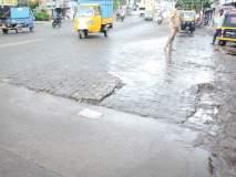 खड्डे, अर्धवट कामांनी कल्याण- शीळ रस्त्याची दुरवस्था