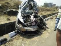 मुंबई-पुणे द्रुतगती मार्गावर टेम्पोला धडकून कारचा अपघात, एक ठार, एक जखमी