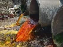 कऱ्हाडमध्ये रसायनयुक्त पाणी नदीत सोडल्याने ग्रामस्थ संतप्त