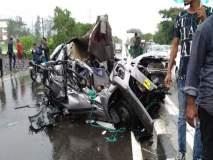 मुंबई- पुणे महामार्गावर भीषण अपघात, सात जण ठार
