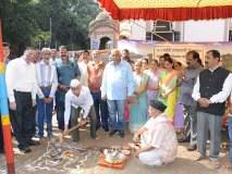 कोल्हापूर : करवीर नगर वाचन मंदिरच्या नुतन वास्तूसाठी हवे सहकार्य : जाधव,प्रिन्स शिवाजी हॉलचे भूमिपूजन