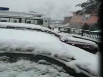 श्रीनगरमध्ये मोसमातील पहिली बर्फवृष्टी!