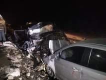 ट्रकवर आदळली पोलिसांची कार, अपघातात ४ ठार तर ३ जण जखमी