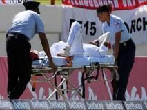 तो मैदानात पडला आणि स्ट्रेचरवरून हॉस्पिटलमध्ये गेला