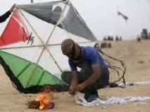 आता पॅलेस्टाइनचा इस्रायलवर 'पतंगहल्ला', 2200 एकर शेत नष्ट