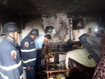 कोंढव्यातील इमारतीच्या सहाव्या मजल्यावर आग, दोघांची सुटका करण्यात यश