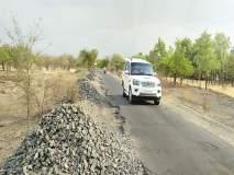 कर्जत-कुळधरण रस्त्याचे मजबुतीकरण रखडले